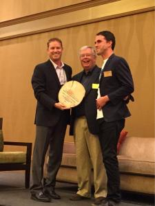 CPBB Founders Chris Fabian and Jon Johnson receive esteems ZoomGrants sustainability Award presented by Geoff Hamilton, President/Founder of ZoomGrants