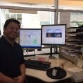 Juan in front oflog