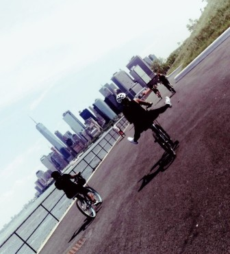 biking in NY