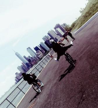 biking in NY