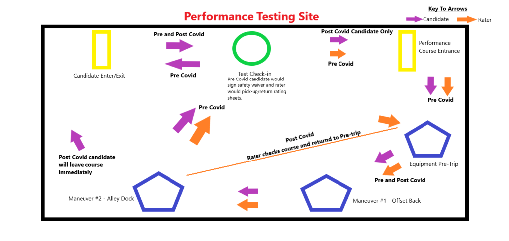 Diagram showing the flow of candidates and raters through the Performance Testing Site